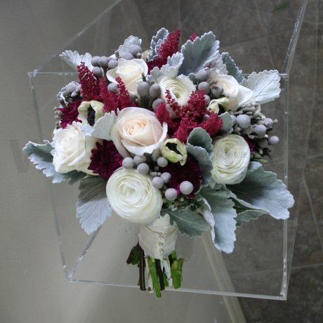 W Flowers product: Purple and Grey Bridal Bouquet