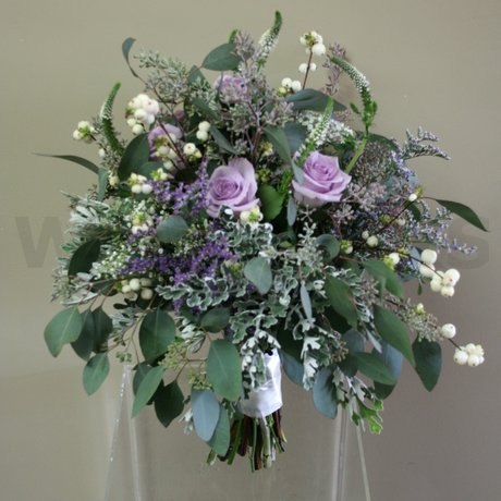 W Flowers product: Purple and White Bridal Bouquet