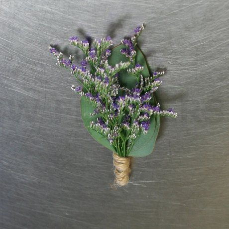 W Flowers product: purple boutonniere
