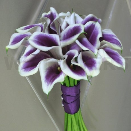 W Flowers product: Purple calla wedding bouquet