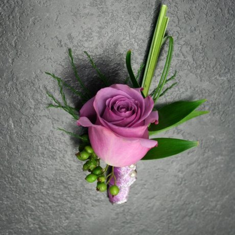 W Flowers product: Purple rose boutonniere