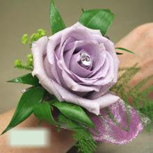 W Flowers product category: Purple Rose Wrist Corsage