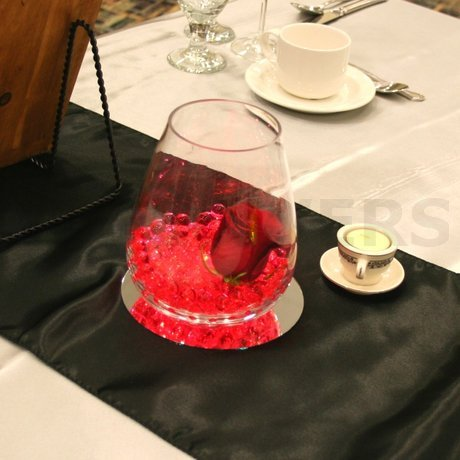 W Flowers product: Red Centerpiece with light
