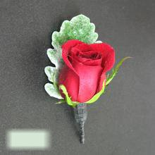 W Flowers product category: Red Rose Boutonniere
