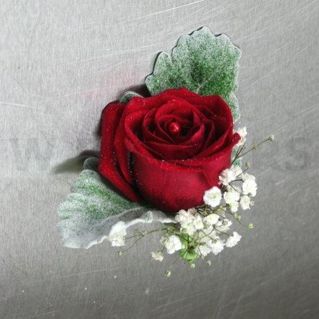 W Flowers product: Red Rose Corsage