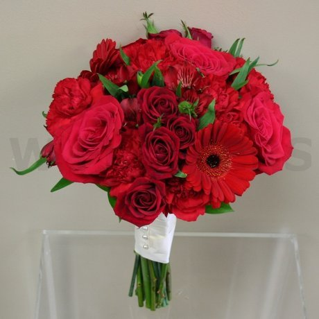 W Flowers product: Red Bridal bouquet