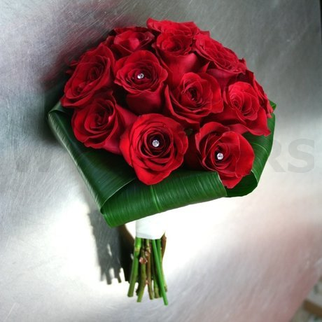 W Flowers product: Red Roses Bridal bouquet