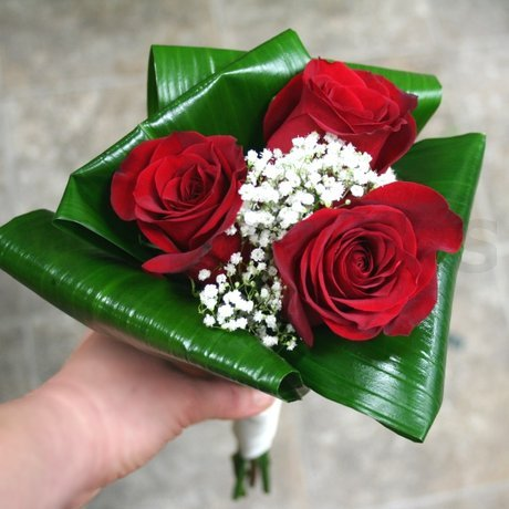 W Flowers product: Red Roses Bridesmaid Bouquet