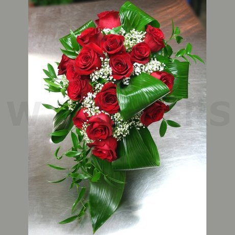 W Flowers product: Red Roses Cascading Bouquet