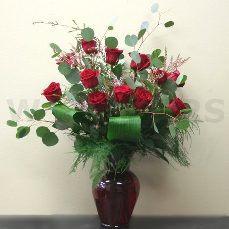W Flowers product: Red Roses Remembrance Vase