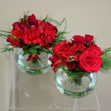 W Flowers product: Red wedding centerpiece