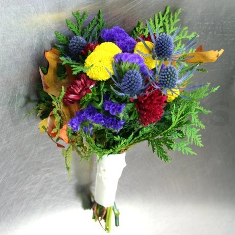 W Flowers product: Rustic wedding bridesmaid bouquet