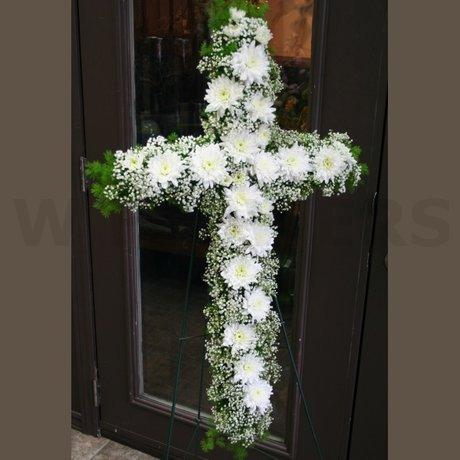 W Flowers product: Serenity Cross