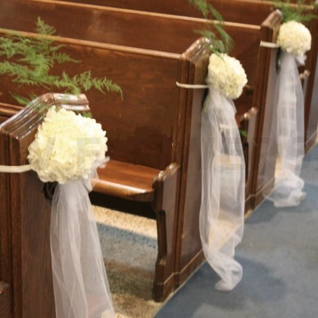 W Flowers product: Simple church wedding decoration