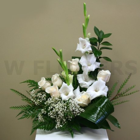 W Flowers product: Small Sympathy Arrangement