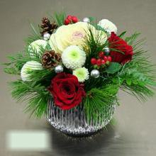 W Flowers product category: Snowball Centerpiece