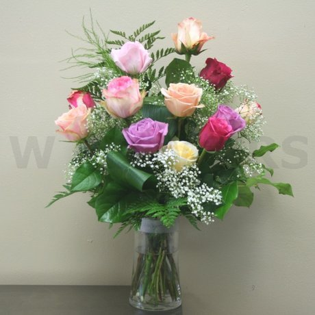 W Flowers product: Soft Mixed Rose Bouquet