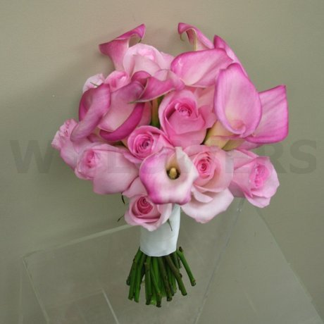 W Flowers product: Soft pink wedding bouquet with calla