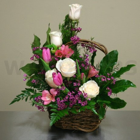 W Flowers product: Spring Basket