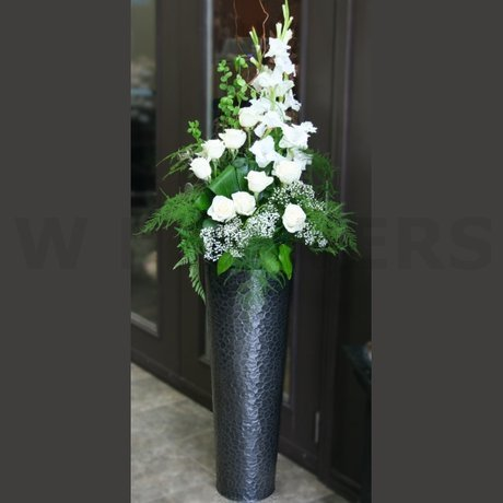 W Flowers product: Tall Arrangement in Modern Urn