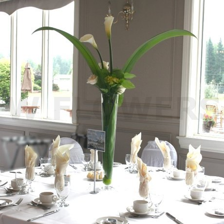 W Flowers product Tall Centerpieces for Wedding with White Calla