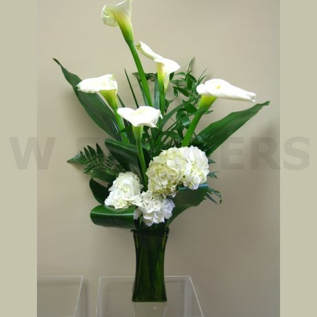 W Flowers product: Tall Modern Vase Arrangement for wedding
