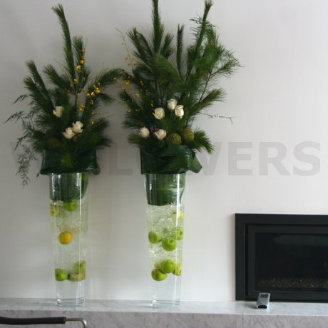 W Flowers product: Tall Vase Arrangement for Winter Ceremony