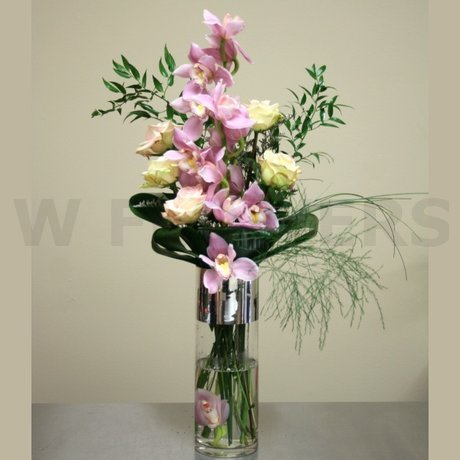 Tall Vase Arrangement With Orchid W Flowers Ottawa