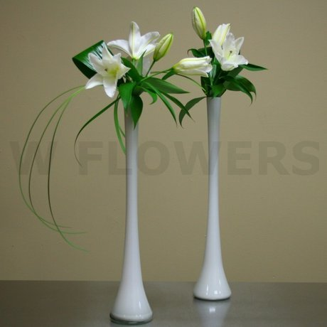 W Flowers product: Tall Wedding Centerpieces with White Lily