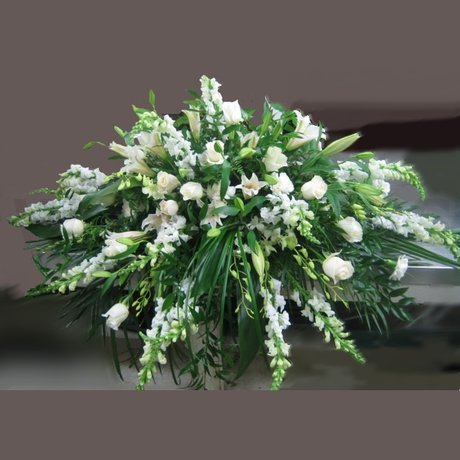 W Flowers product: Tender Remembrance Casket Spray
