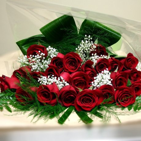 W Flowers product: Two Dozen Red Roses Wrapped