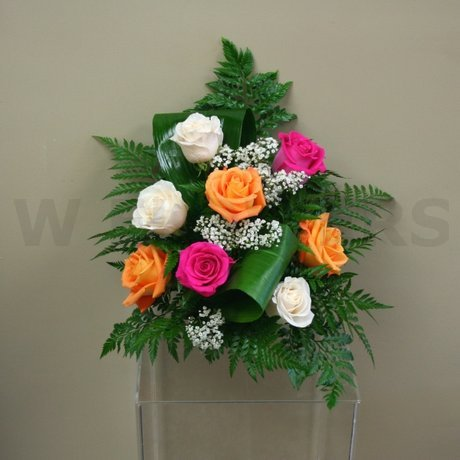 W Flowers product: Vibrant colors wedding ceremony flowers