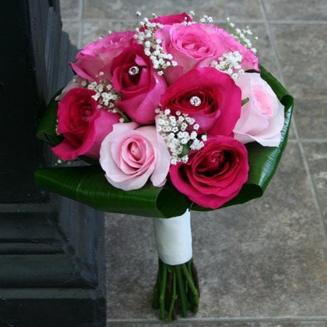 W Flowers Product Wedding Bouquet In Fuchsia