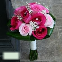 W Flowers product category: Wedding Bouquet in Fuchsia