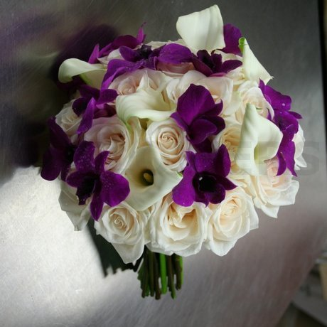 W Flowers product: Wedding bouquet in plum and champagne