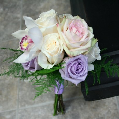 W Flowers product: Wedding Bouquet in Purple and White