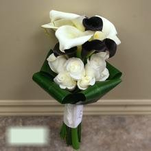 W Flowers product category: Wedding Bouquet with Black and White Calla