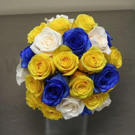 W Flowers product: Wedding Bouquet with Blue Roses