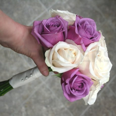 W Flowers product: Wedding Bouquet with Purple