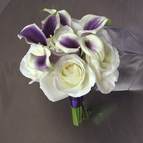 W Flowers product: Wedding Bouquet with Purple Calla