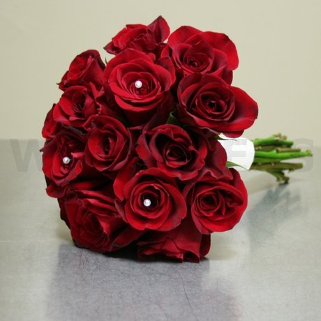 W Flowers product: Wedding Bouquet with Red Roses