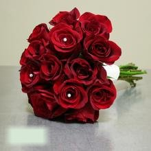 W Flowers product category: Wedding Bouquet with Red Roses