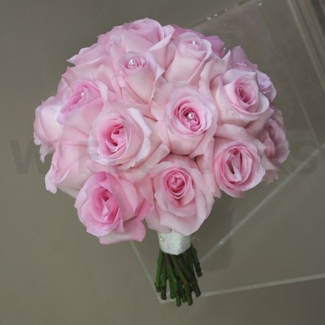 W Flowers product: Wedding Bouquet with soft pink roses
