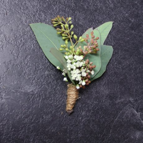 W Flowers product: Wedding boutonniere with eucalyptus