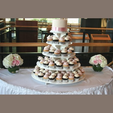 W Flowers product: Wedding Cake Table Decoration in blush