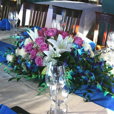 W Flowers product: Wedding Centerpiece with Blue Orchids
