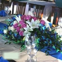 W Flowers product category: Wedding Centerpiece with Blue Orchids