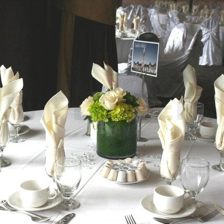 green white wedding centerpieces indian wedding themes