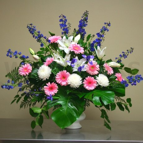 W Flowers product: Wedding Ceremony Flowers with Blue