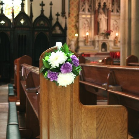 W Flowers product: Wedding flowers for church pews